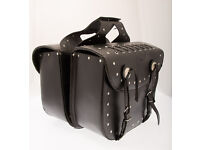 CITY of Leather LONDON saddle luggage black leather