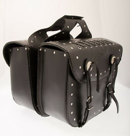 CITY of Leather LONDON saddle luggage black leather