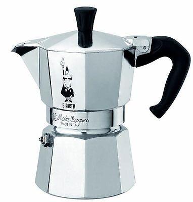 Bialetti 3 Cup Moka Express Stovetop Espresso Coffee Maker Pot Latte 6 ounce NEW