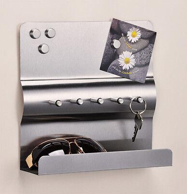 Schlüsselbrett Schlüsselleiste Schlüsselboard Edelstahl Magnet Schlüsselkasten
