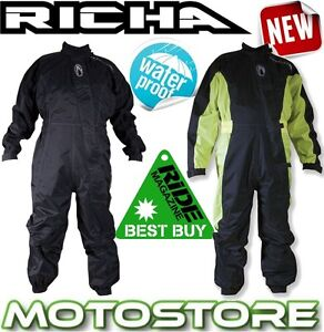 RICHA-TYPHOON-ONE-PIECE-1PC-OVER-SUIT-WATERPROOF-MOTORCYCLE-RAIN-OVERALL-HI-VIS