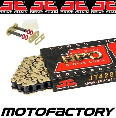 JT HPO HEAVY DUTY GOLD O-RING CHAIN FITS YAMAHA XTZ125 2002-2004 for sale  Shipping to South Africa