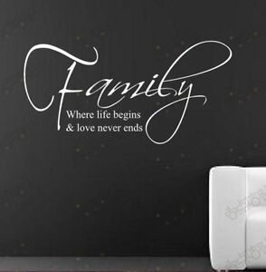 Family-Love-stickers-wall-Quote-Removable-Art-Vinyl-Decor-Home-Kids-Au-decal