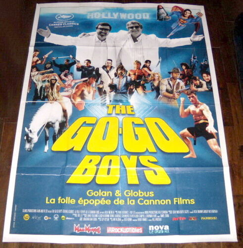 THE GO-GO BOYS Cannon Films Vandamme Stallone Norris Reeves LARGE French POSTER