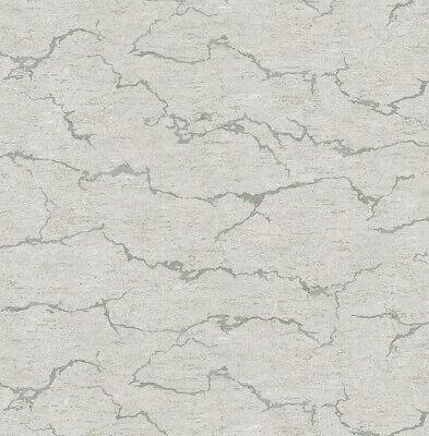 Tapete, Designtapete, Steinplatte, Schimmer, Silbergrau, Lindgrün ()