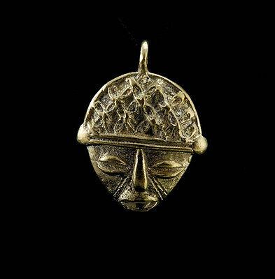 Pendant Mask Ashanti Tribale Art African Tribale Figure Brass C