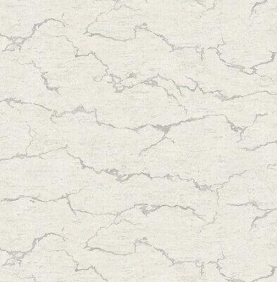 Tapete, Designtapete, Steinplatte, Schimmer, Silber, Grau, Stein ()