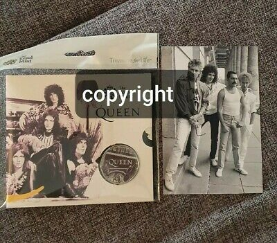 Royal Mint Queen Music Coin & Rare Photo direct From Negative.freddie Mercury