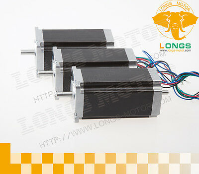Longs Motor 3pcs Nema23 Dual Shaft Stepper Motor 425oz.in Cnc 23hs9430b Eu Ship