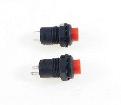 2 Pack SPST Latching Off-On Push Button Switch Red    LATCH32731RD
