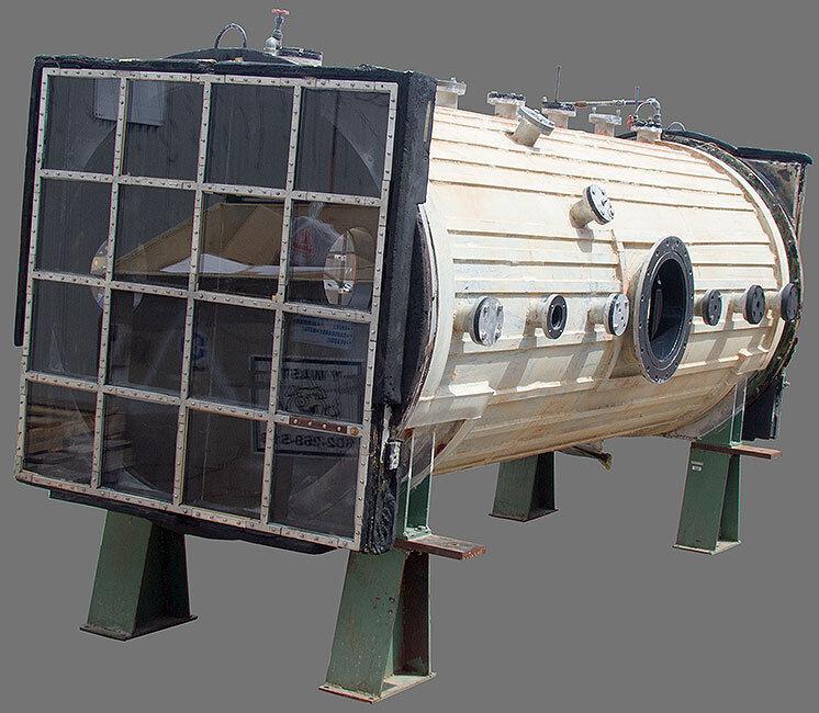 4.5 ft Dia x 12 ft. L 190.1 Cubic Foot 6061 Aluminum Vacuum/Pressure Chamber
