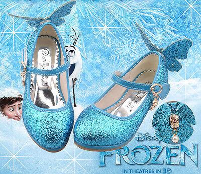 Cosplay die Eiskönigin Frozen Elsa PU Schuhe Stiefel Kinderschuhe Für Mädchen