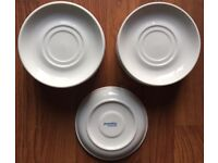 COFFEE SAUCERS WHITE 14 IN TOTAL PUREWHITE HOTEL STANDARD