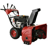26 in. 212cc Two-Stage Electric & Recoil Start Gas Snow Blower Snow Thrower New