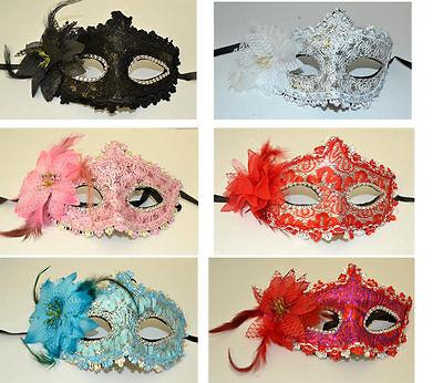2x Augenmaske Halbmaske Gesichtsmaske Ballmaske Karneval Party Halloween mask