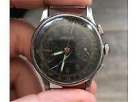 Vintage angelus military chronograph watch