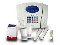 alarm/hd cctv camera / wireless system with built in phone dialler sensor/door/window