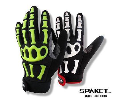 Spakct Bike Full Finger Sport Cycling Long Gloves - Skeleton