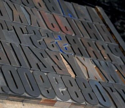 Letterpress Wood Printing Blocks 205pcs 3.54 Tall Alphabet Wooden Type Woodtype