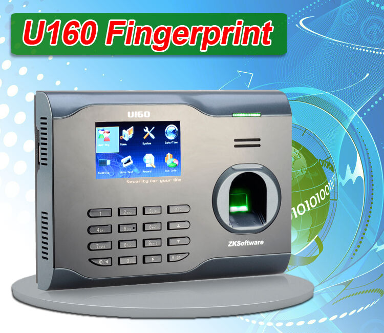 Details about Zksoftware U160 Biometric Fingerprint Time Attendance Time  Clock Time Recorder