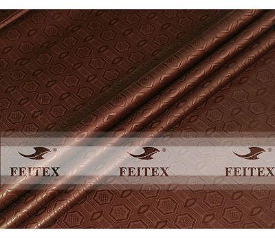 Popular Coffee High Quality Shadda Guinea Brocade African Bazin Riche Fabric