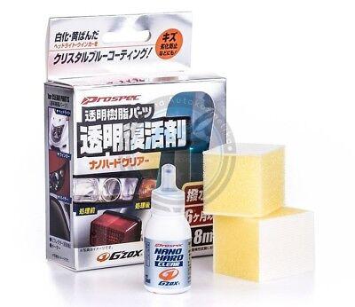 Clear Plastic Restoration Kit - Soft99 Nano Hard Clear Plastic Restoration Kit G'Zox Refresh Polish Headlight