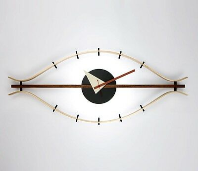 mcm mid century danish modern nelson style steering eye clock ball star wall