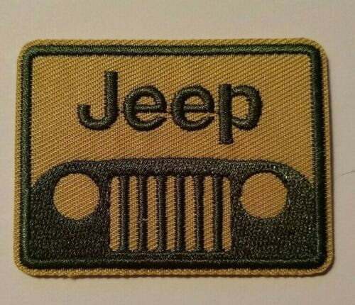 "Jeep~Embroidered Patch~Off-Road~Crawler~Grill @ 2 3/8"" 1 7/8""~Iron or Sew On"