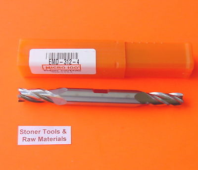 1 New Micro 100 516 X 34 4 Flute Solid Carbide Double End Mill Emd-312-4 Usa