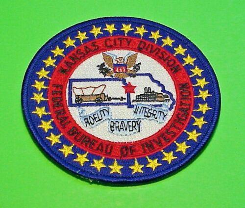 "KANSAS CITY  DIVISION  FEDERAL BUREAU OF INVESTIGATION  4""  POLICE PATCH"