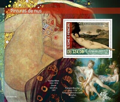 Sao Tome & Principe Art Stamps 2020 MNH Nudes Nude Paintings Giorgione 1v S/S