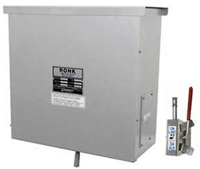 200a Manual Transfer Switch - Ronk 9805 Meter-Rite Double Pole Manual Transfer Switch Pole Top 200A 240V
