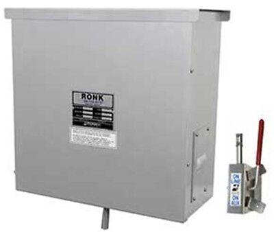 200a Manual Transfer Switch - Ronk 9205 Meter-Rite Double Pole Manual Transfer Switch Pole Top 200A 240V