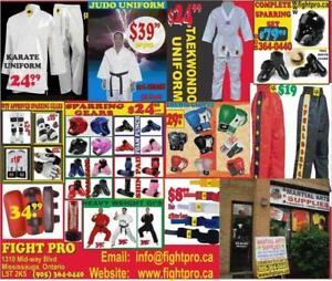 MARTIAL ARTS SUPPLIES, 75%OFF, SPECIAL DISCOUNT FOR MARTIAL ARTS, BOXING, JUDU CLUBS (905)364-0440    WWW.FIGHTPRO.CA