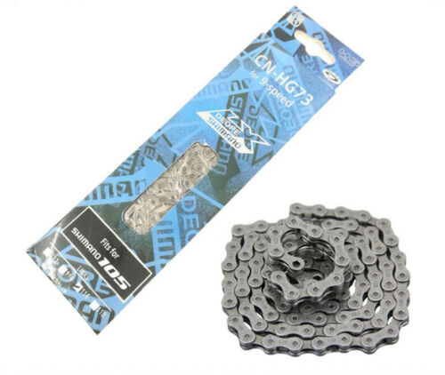 HG73 9 Speed 116 Links SHIMANO Bicycle Chain Mountain Road Bike Deore LX 105 US