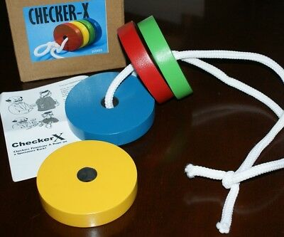 Checker - X  (UF Grant classic, now in wood) -- colorful club or kidshow    TMGS for sale  Walnut Creek