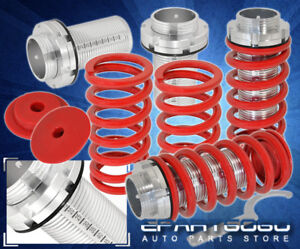 93-97 TOYOTA COROLLA RED LOWERING SPRING ADJUSTABLE COILOVER SCALE SLEEVES