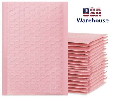 Bubble Mailers Bulk Poly Decorative Colored Cushion Small Padded Envelopes Pink