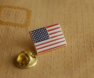 USA Amerika rechteckig Pin Anstecker Flaggenpin Button Badge Pins NEU TOP