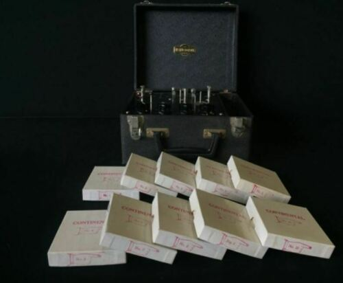 Vintage Instructograph With 10 Tape Set Continental Morse Code Learning NICE