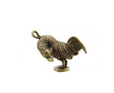 Pendant African Ashanti Tribale Ancestor Rooster Door Keys Bronze 5110