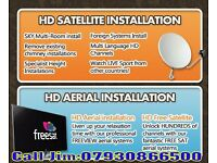 free estimate sky digital dish all satellite aerial cctv installations installer repair TV from £40