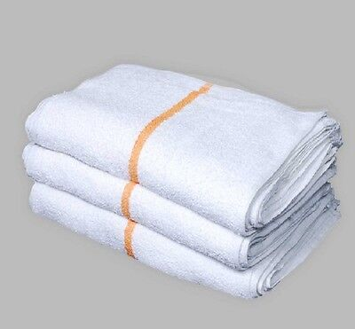 12 New Large Stripe Terry Shop Towels Restaurant Bar Mop Towels 32oz New Unused