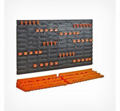 Storage Pegboard Shelf Tool Garage Storage Workshop Organiser Wall Mounted Rack Storage Unit Pegboard
