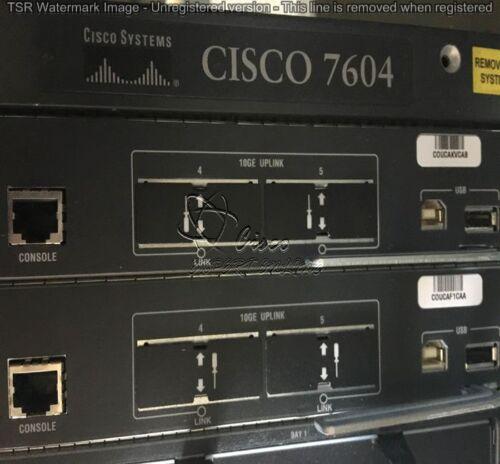 Cisco7604 Chassis W/ 2x Vs-s720-10g 1x Vs-x6582-2pa 1x 7600-ssc-400, Dual Power