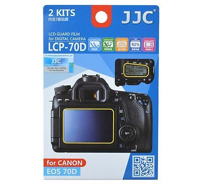 JJC LCP-70D 2KITS LCD Guard Film Screen Display Protector CANON EOS 70D 80D