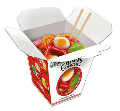 Raindrops noodles Asian ramen Chinese Take out box gummy Gummi candy gumi ()