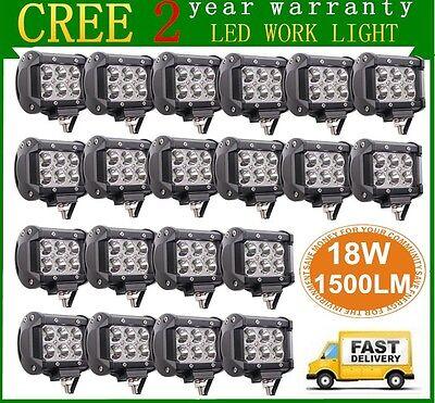 Изображение товара 20X 4inch 18W CREE LED Work Light Bar 4WD Offroad Spot Fog ATV SUV Driving Lamp