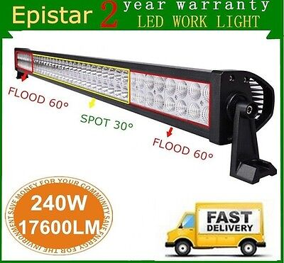 42inch 240W Led Work Combo Flood Spot Light Bar Boat Driving ATV 4WD Ford 44/40
