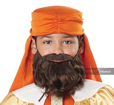 California Costume Wise Man Beard Moustache Brown Child Halloween Costume 70919